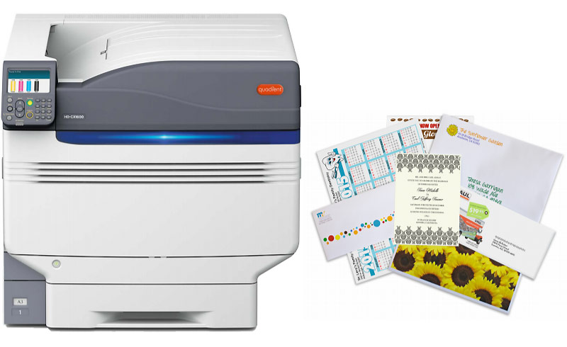 Quadient high-definition color printer available in Lubbock.
