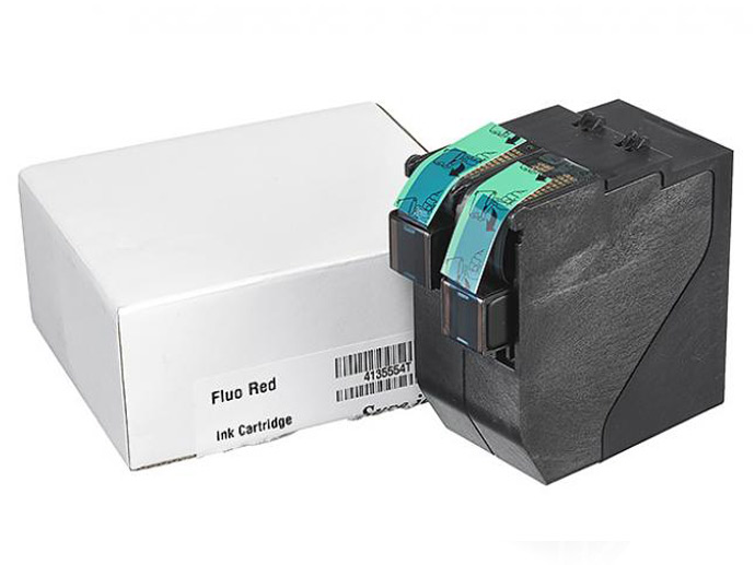 Ink cartridge for Quadient iX-series postage meters, with box, available in Lubbock from ABS.